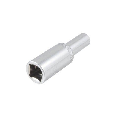 uxcell Car Auto Chrome Vanadium Steel 12 Square Drive 8mm Hex Socket Spanner Bit
