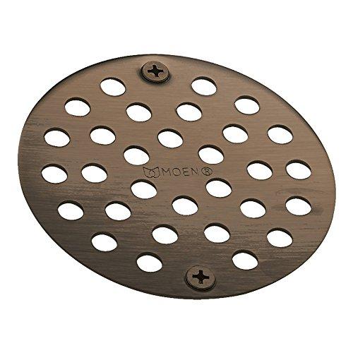 Moen 102763ORB 4-Inch Screw-In Shower Strainer Drain Cover Oil Rubbed Bronze