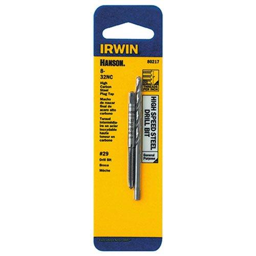 IRWIN HANSON 8 - 32 NC Tap and No 29 Drill Bit Set 80217