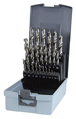 RUKO 214851RO Jobber Length Drill Bit Kit High Speed Steel M2 Ground with Split Point 116 to 12 Set of 29