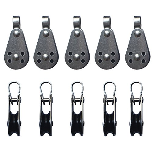 10 X 25mm Stainless Steel Pulley Block for Kayak Canoe with Fixed Pin