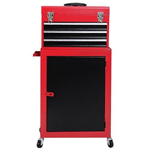 Giantex 2pc Mini Tool Chest Cabinet Storage Box Rolling Garage Toolbox Organizer