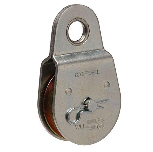 Campbell Chain Single Sheave Rigid Eye Pulley 2 Sheave Dia 480 Lb Steel