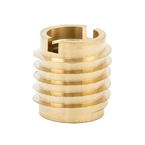 E-Z Lok 400-4 Threaded Insert Brass Knife Thread 14-20 Internal Threads 0500 Length Pack of 25