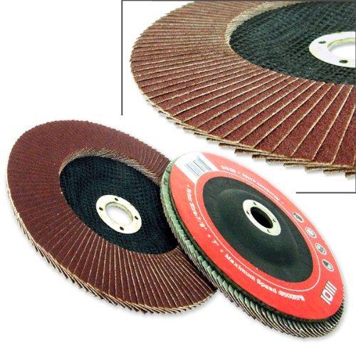 10 Pack 4-12 Aluminum Oxide Flap Disc 80 Grit