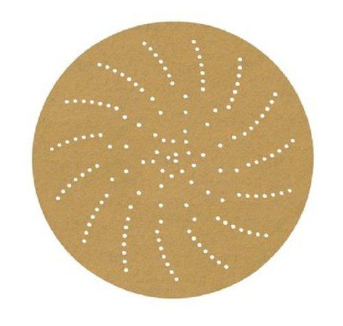 3MTM Clean Sanding Disc 236U 55522 C-Weight Paper Hook and Loop Attachment Aluminum Oxide 3 Diameter P220 Grit Gold Pack of 50