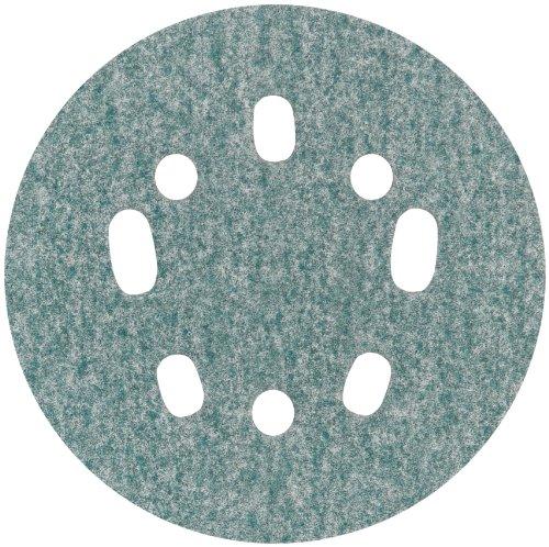 Norton 3X 5 8 Hole Universal Vacuum Abrasive Fiber Disc Fiber Backing Hook Loop Aluminum Oxide 5 Diameter Grit P60 Pack of 10