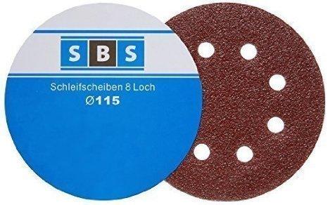 Speed Belt Sander Sanding Disks Diameter 115mm 10 each of 406080120180240 Grits for Exzenter 8 Hole Sanders by SBS - Schlößer Baustoffe
