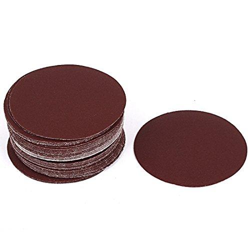 uxcell 4inch Dia Polishing Abrasive Sanding Sandpaper Disc 150 Grit 50 Pcs