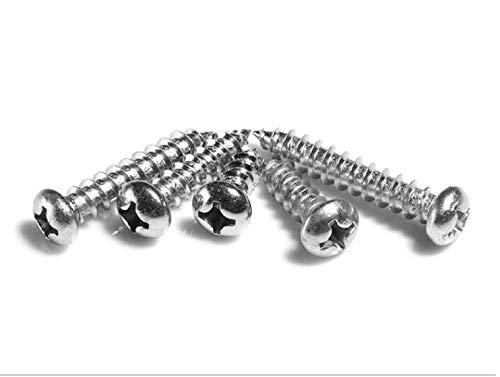 Stainless Steel Screw Cross ○ Head Screw countersunk Head Screw Bolt 100-Piece 4x16mm