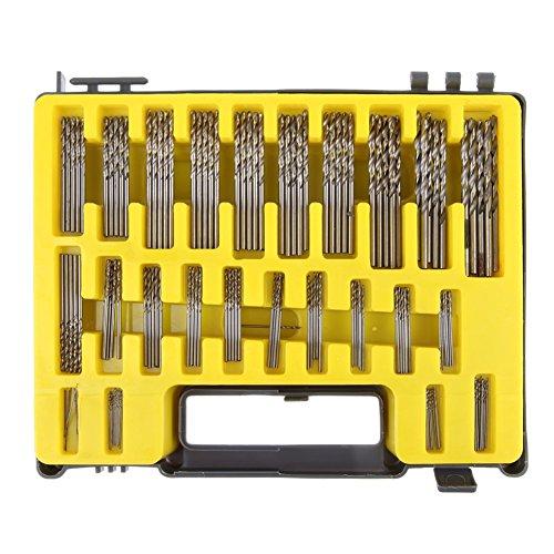 UEB Mini twist drill Bit Kit 04mm-32 HSS Micro Precision Twist Drill 150Pcs with Carry Case for PCB Crafts Jewelry Drilling Tool