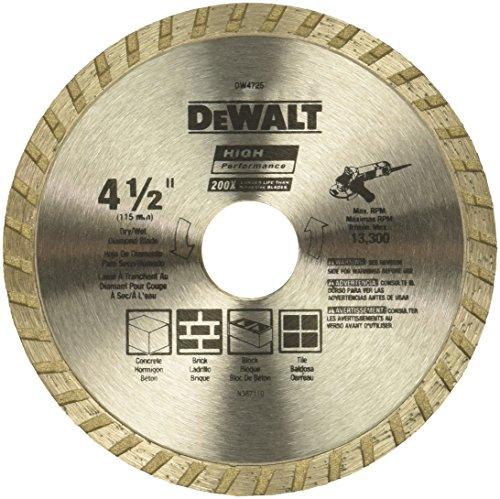 DEWALT Diamond Blade for Masonry Dry Cutting Continuous Rim 78-Inch Arbor 4-12-Inch DW4725
