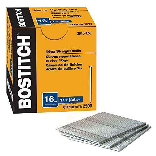 BOSTITCH SB1615SS 15-Inch 16-Gauge SS Brad Nailer 500-Pack