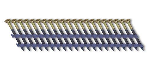 Fasco SCFP613FVEG Scrail Fastener  Fine Thread 20-22-Degree Plastic Strip Electro-Galvanized Versa Drive 2-Inch x 113-Inch 1000 Per Box