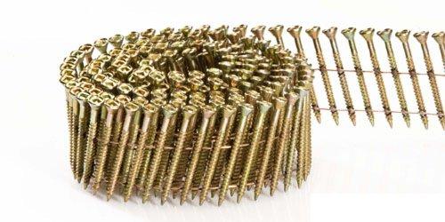 Fasco SCWC613FVEG Scrail Fastener  Fine Thread 15-Degree Wire Coil Electro-Galvanized Versa Drive 2-Inch x 113-Inch 2000 Per Box