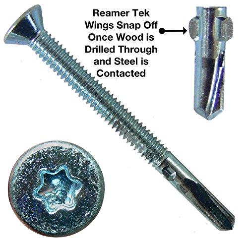 12x2-12 Reamer Tek TorxStar Head Self-Drilling Wood to Metal Screws - 5 Pound ~275 Tek Screws - Tek Screws for Flatbeds Trailers or where Fastening Wood to Steel - T-25 Torx Screw Head