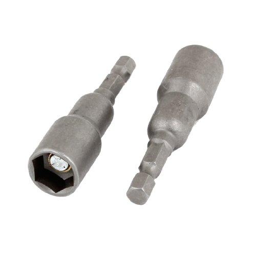 2 Pcs 14 Shank 12mm Socket Magnetic Hex Nut Setters Bits