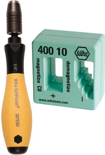 Wiha - Wiha 38701 - ESD Safe Quick Release Bit Holder Bonus Pack With FREE Wiha 40010 - MagnetizerDemagnatizer - 38701