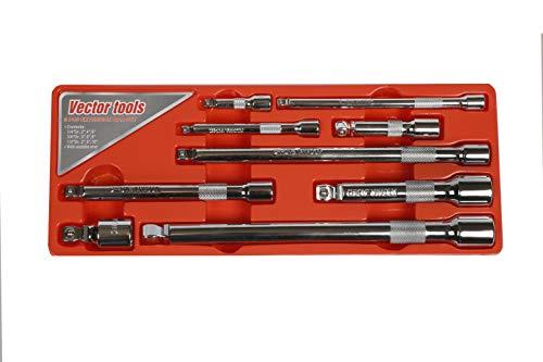 Vector Tools CR-V Wobble Angle Extension Bar Set 9 Piece