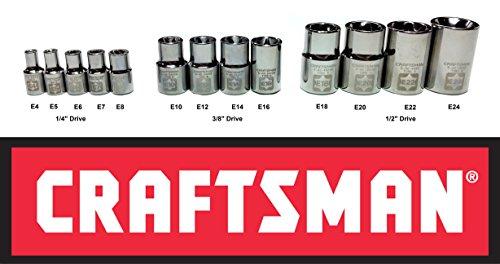 Craftsman 13 Piece 14 38 and 12 Drive External Torx Socket Set - 49295