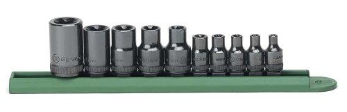 GEARWRENCH 10 Pc 14 38 12 Drive External Torx Socket Set - 80582