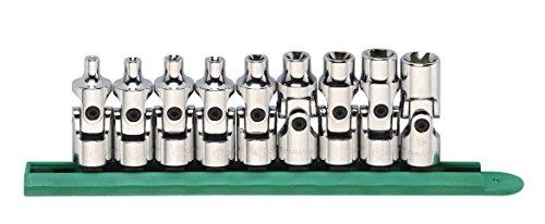 GEARWRENCH 9 Pc 38 Drive Universal External Torx Socket Set - 80985