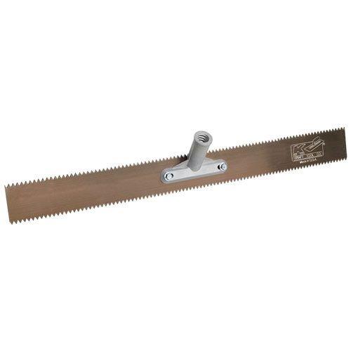 Kraft Tool GG605 Double Notch Steel Rake with Handle 18-Inch