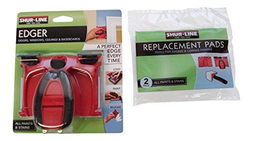 Shur-Line Paint Edger Bundle- 2 Items One 1000C Paint Edger Pro And A 2-Pack Replacement Pads
