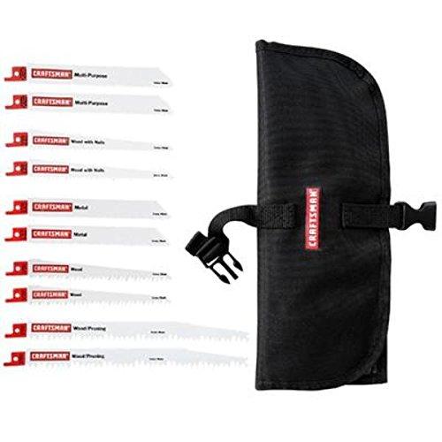 Craftsman 10-Pack Reciprocating Saw Blade Set 9-66411 with Storage pouch Bi-metal