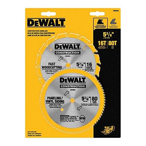 DEWALT 2pc 5 38 circular saw blade set