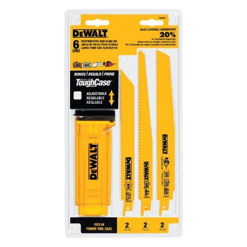 DEWALT DW4896 Bi-Metal Reciprocating Saw Blade Set With Case 6-Piece