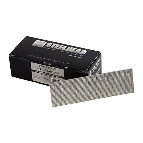 Steelhead STB18112SS 18GA Brad Nail 1-12 Stainless Steel 5000 count