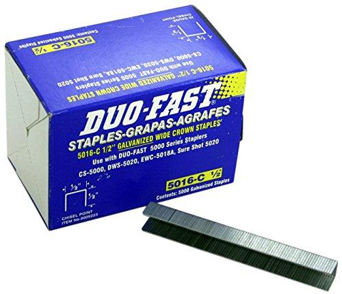 Duo-Fast 5016C 12 Length x 12 Crown 20 Gauge Staples 5000 per Pack 5223