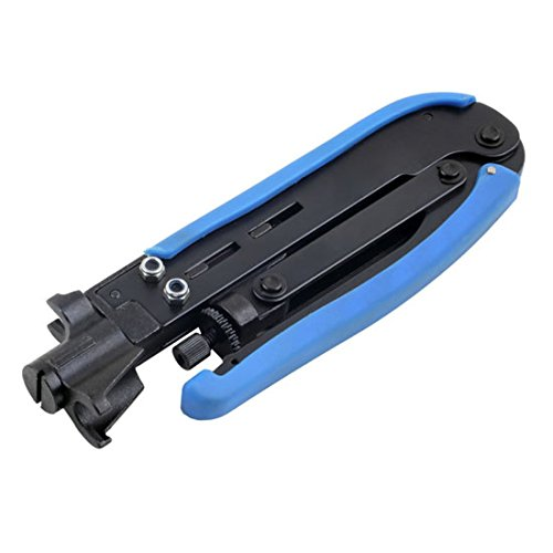 Professional Compression Tool RG59 RG6 RG11 Quad Connector Commercial Grade Crimping Tool Coaxial Pro Series Compression Crimper Coax Connector Professional Crimp Tool
