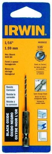 Irwin Tools 4935632 Black Oxide Hex Shank Drill Bit 116-Inch