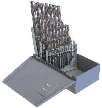 Kodiak Cutting Tools KCT120404 USA Made Cobalt Jobber Length Drill Set Heavy Duty 135 Degree Split Point Straw Finish 116-12 x 64ths Size Range