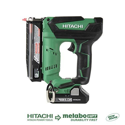 Hitachi NP18DSAL Cordless 23 Gauge Pin Nailer Kit 18V Compact 30 Ah Lithium Ion Battery No Push Safety Nose Tip