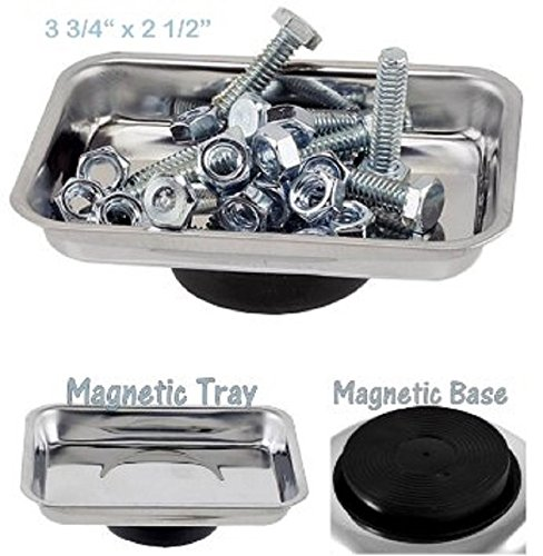 Micro Parts Tray - Use In Garage Home Construction - For Nuts Bolts Washers Iron Nails Screws Sockets Bits Etc - Katzco