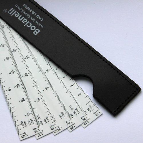 Metric 15cm 6 Fan Shaped Plastic 5 Blade Scale Ruler 110  1100 115  150 120  1200 125  1250 130  1300 133 140  1400 150  1500 175  1750 1125  11250