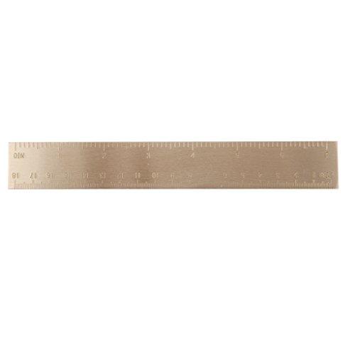 Portable Multi-tool Double Scale Measure Ruler Tool 18cm - Brass