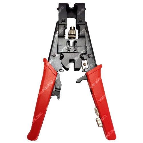 BNC  RCA  F-type Coax Adjustable Compression Tool