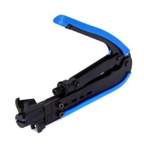 GCA Professional Wire Crimper Coax Compression Crimping Tool RG59 RG6 RG11 F-Type Compression Connectors Cable Crimper Tool
