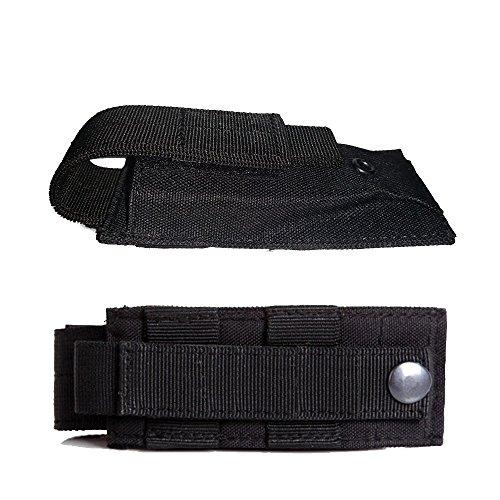 LefRightTM High Explosive Single Mag FlashlightTool Knife Cartridge Clip Bullet Holster Belt Pouch Sheath