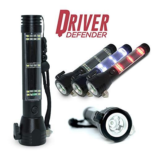 Sirius Survival Driver Defender - Ultimate Auto Emergency Flashlight Tool USB Power Bank