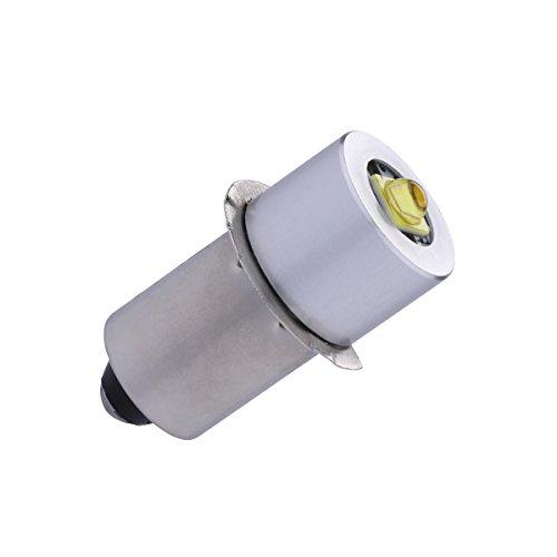 TRLIFE LED Flashlight Bulb DC4-30V P135S PR2 3W Maglite Bulb LED Flashlight Bulb Replacement Part Maglite LED Conversion Kit for 3-20 C&D Cells Maglite Flashlights Torchled 18v Flashlight Bulb