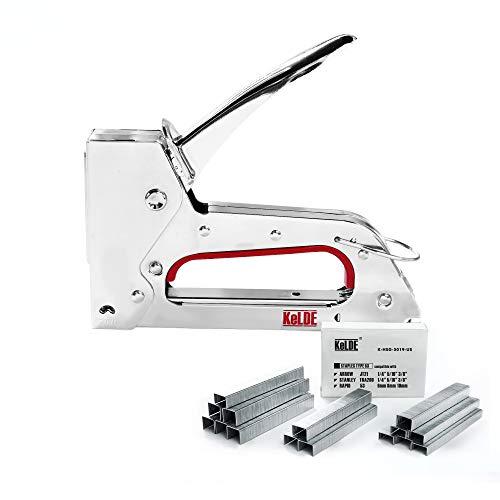 Hand Staple Gun Kit KeLDE Light Heavy Duty Stapler Tacker fit JT21 Staples Includes 1500pcs 14 516 38 Inch Staples Set