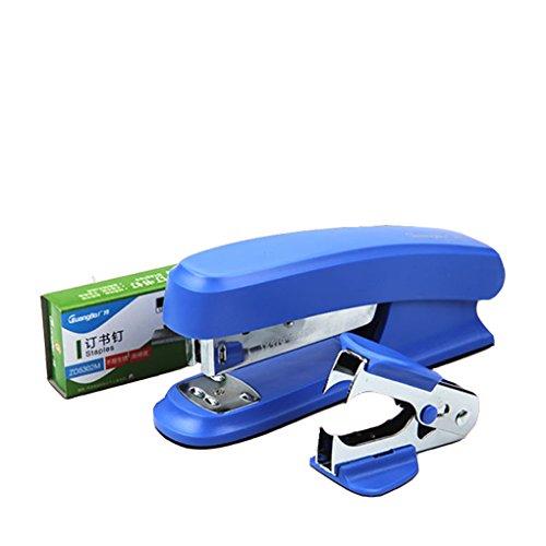 Lucky Cion 3-in-1 Set Stapler Including StaplerStapler Remover 640 Staples Blue