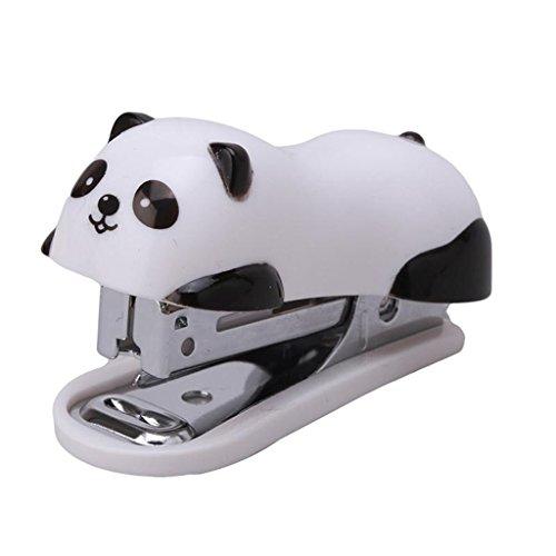 UNKE Cute Panda Mini Desktop Stapler&Staple Hand Stapler OfficeHome Stapler