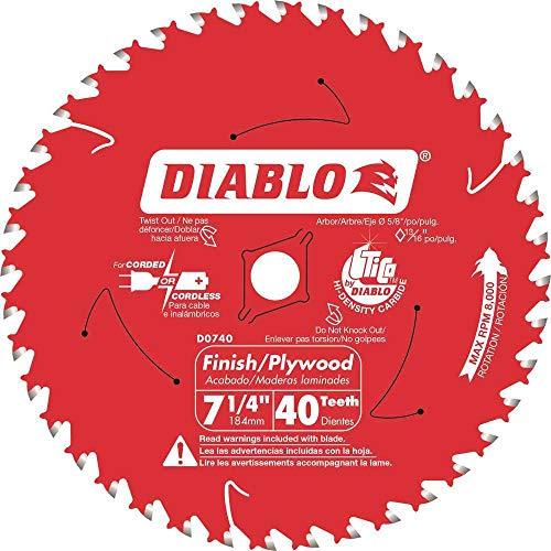 Diablo 7-14 in x 40 Tooth Carbide Circular Saw Blade
