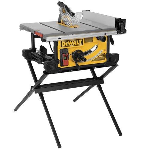 DEWALT DWE7490X 10-Inch Job Site Table Saw with Scissor Stand